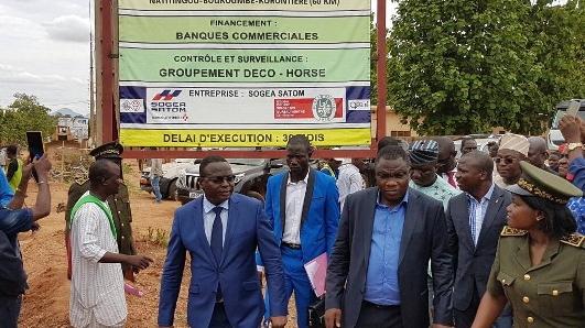 Infrastructure routière :Hervé Hêhomey lance le bitumage de la route Korontière -Boukoumbé-Natitingou