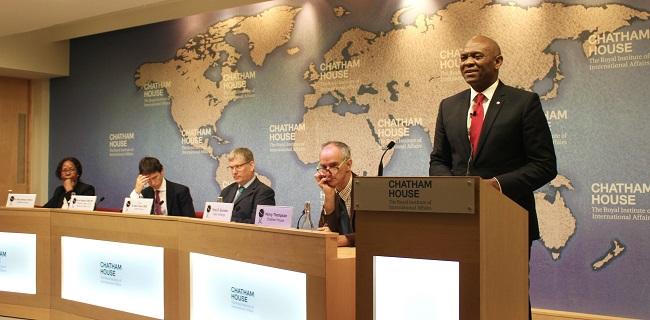 """ELUMELU A L'INSTITUT CHATHAM HOUSE: """"La diffusion persistante de récits négatifs sur l'Afrique est le plus grand défi de notre continent"""""""