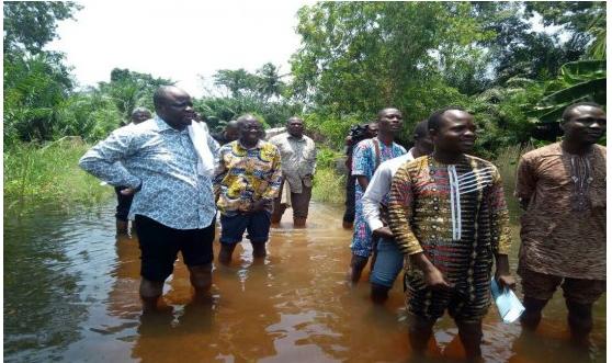 Catastrophe naturelle :Six morts dus à la montée des eaux à Grand-Popo