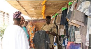 Promotion des tissus teintés: Bonaventure Houssou ouvre une galerie d'arts à Akpro-Missérété