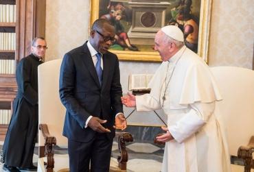 Rencontre avec le pape François: Patrice Talon confie avoir eu le coeur battant très fort