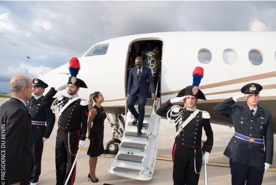 Voyage du chef de l'État :Patrice Talon accueilli mercredi soir à Rome