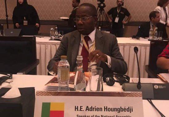 Réunion du Groupe consultatif de haut niveau de l'UIP sur la lutte contre le terrorisme : Le président Adrien Houngbédji à la conférence d'Abou Dhabi
