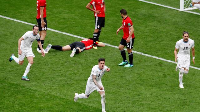 Coupe du Monde Russie 2018 : Uruguay s'impose à la dernière minute face à l'Egypte