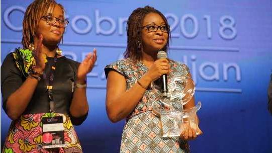 3ème édition de l'Africa CyberSecurity Conference Le ''Trophée African Women 4 Tech Leader'' décerné à Aurélie A. Soulé Zoumarou
