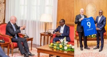 Le président de la Fifa à sa sortie d'audience à la présidence : « Nous suivons avec grande attention les réformes en cours au Bénin »