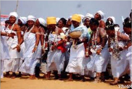 Célébration de la fête des religions endogènes Des descendants afro-américains au Bénin le 10 janvier