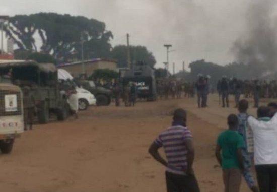 Tchaourou Affrontement entre policiers et populations