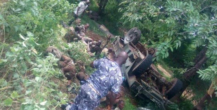Accident d'un camion militaire à Savè : Trois militaires décédés, cinq blessés graves