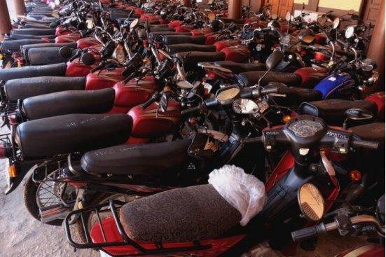 Opération Azanhouan Plusieurs motos sans pièces saisies par la Police
