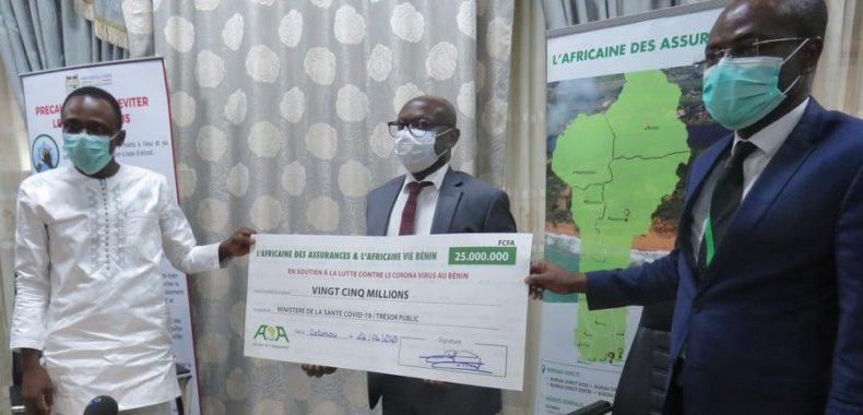 Riposte contre le coronavirus: L'Africaine des Assurances contribue pour vingt-cinq millions Fcfa