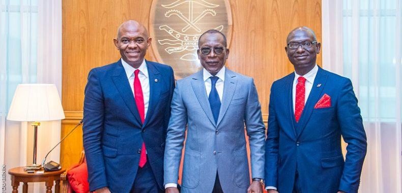 Visite au Bénin: Le président du groupe UBA M. Tony Elumelu reçu par Patrice Talon