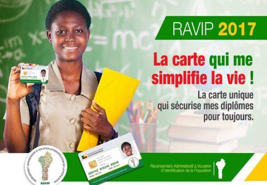 Établissement de pièces sécurisées d'identité L'enrôlement au RAVIP dans les arrondissements de Cotonou dès lundi