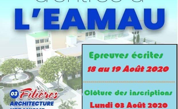 Concours d'entrée à l'École Africaine des Métiers de l'Architecture et de l'Urbanisme (EAMAU)  2020