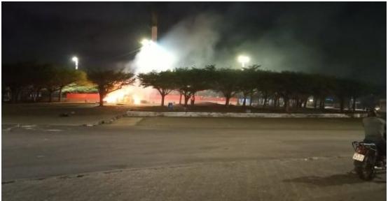 Actes de vandalisme à Cotonou La place de l'Etoile rouge incendiée