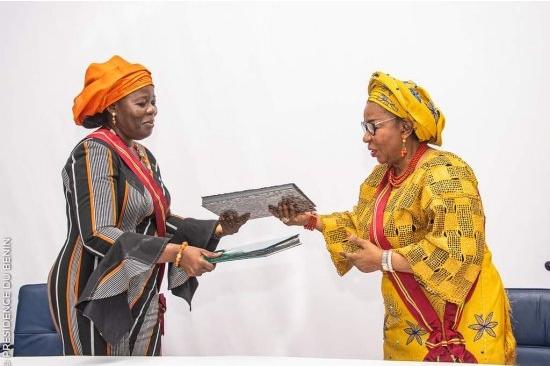 Grande Chancellerie de l'Ordre National du Bénin : Mariam Chabi Talata Zimé entre officiellement en fonction